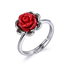 Women's Engagement Ring Sexy Elegant Sterling Silver Flower Jewelry For Birthday Gift