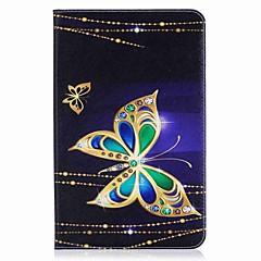 butterfly mønster kortholder lommebok med stativ flip magnetisk pu lærveske til Samsung Galaxy Tab e 9,6 t560 t561 9,6 tommers PC-PC