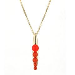 preiswerte Halsketten-Damen Erbse Gestalten Freizeit lieblich Anhängerketten Zirkon Kupfer versilbert Anhängerketten Alltag Ausgehen Modeschmuck