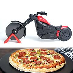 billige Bakeredskap-motorsykkel pizza cutter rustfritt stål hjul kniv sykkel sykkel ruller pizza chopper slicer peel kniver