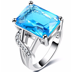 cheap Rings-Men's Women's Band Rings Cubic Zirconia Zircon Copper Jewelry Wedding Party Engagement Gift Ceremony Evening Party Valentine