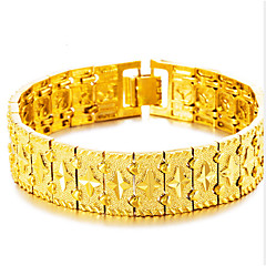 cheap Bracelets-Men's Bangles Cuff Bracelet Asian Lovely Fashion Gift Gold Plated Jewelry For Wedding Daily