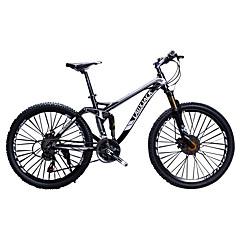 אופני הרים רכיבת אופניים 24 מהיר 700CC/26 אינץ' SAIGUAN EF-51 דיסק בלימה כפול מזלג שיכוך שלדת זנב רך מתלה מלא אלומיניום סגסוגת אלומיניום