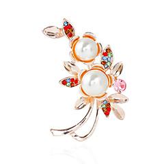 Dámské Brože imitace drahokamu Základní Slitina Ostatní Šperky Pro Svatební Párty