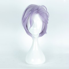 cheap Wigs & Hair Pieces-Synthetic Wig / Cosplay Wig Women's Straight Purple Layered Haircut / Asymmetrical / With Bangs Synthetic Hair Natural Hairline Purple Wig Short Capless Purple / Blue