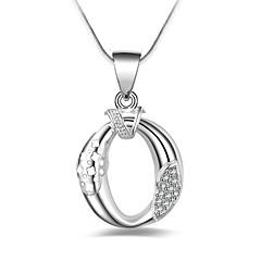 Dame Kort halskæde Dråbe Zirkonium Sølvbelagt Simple Basale Smykker Til Anden Daglig