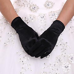 Spandex Wrist Length Glove Bridal Gloves Party/ Evening Gloves With Pleated