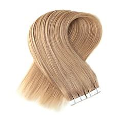 preiswerte Einklebbare Haarverlängerungen-Band in menschlichen Haarverlängerungen Menschenhaar gerade Frauen 1pack Weihnachten besonderen Anlass Halloween Jubiläum Geburtstagsparty Abend