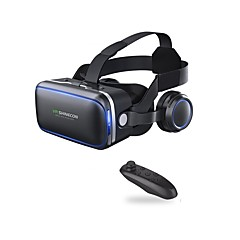 cheap VR Glasses-VR Shinecon 6.0 Headset Version Virtual Reality Glasses 3D Glasses Headset Helmets Smartphone with Controller