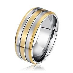 olcso -Férfi Női Karikagyűrűk Szikla Menő Rozsdamentes acél Geometric Shape Ékszerek Kompatibilitás Esküvő Bár