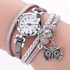 cheap Women's Watches-Women's Quartz Simulated Diamond Watch Bracelet Watch Chinese Imitation Diamond PU Band Casual Bohemian Fashion Black White Blue Grey