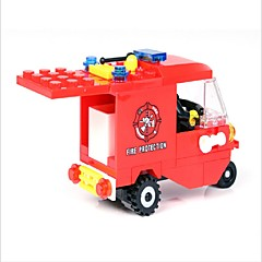GUDI אבני בניין אופנוע רכב מכבי אש צעצועים רכבים נערים 71 חתיכות