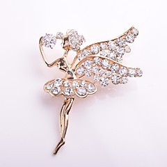 Women's Brooches Rhinestone Sweet Elegant Rhinestone Alloy Princess Jewelry For Daily Casual