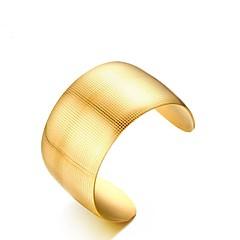 Недорогие Аксессуары для вечеринок-Жен. Браслет цельное кольцо Браслет разомкнутое кольцо Винтаж Elegant Титановая сталь Позолота 18К Бижутерия Свадьба Обручение