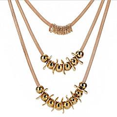 Naisten Riipus-kaulakorut Circle Shape Gold Plated Korut Käyttötarkoitus Päivittäin Työ