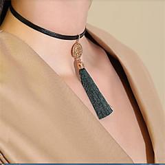 billige Fine smykker-Dame Smuk Kort halskæde  -  Sød Mørkegrøn Halskæder Til Gave Stævnemøde