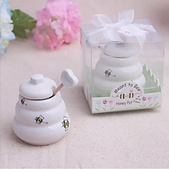 cheap Wedding Gifts-Meant to Bee Ceramic Honey Pot Beter Gifts® Wedding Favor