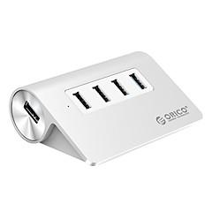 orico m3h4-u32 aluminium 4 porter usb hub 3 usb 2.0 1 usb 3.0 splitter otg hub for Apple Macbook med 1m USB-kabel