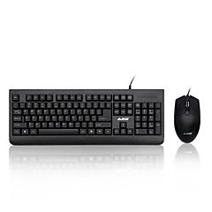 Χαμηλού Κόστους mouse keyboard combo-AJAZZ Ajazz-x1180 Ενσύρματη Πλήρες πληκτρολόγιο ποντικιού Ανθεκτικό στη διαρροή