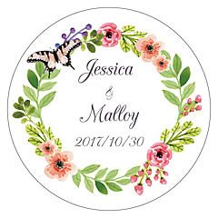 billige Klistremerker og etiketter-Blomst / Botanikk Blomster Tema Klistremerker, etiketter og tags - 10 Sirkelformet Konvolutt-klistremerke
