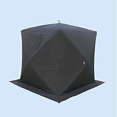 billige Telt og ly-4.0 Telt Dobbelt camping Tent Familietelt Vindtett Regn-sikker Anvendelig til Camping & Fjellvandring Fisking >3000 mm Polstret Stoff -