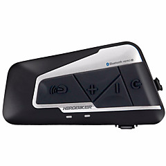 baratos Fones para Capacetes de Motocicleta-herobiker 1200m bluetooth intercom capacete de motocicleta fone de ouvido interfone sem fio bluetooth moto fone de ouvido interphone