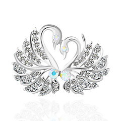 cheap Pins and Brooches-Women's Brooches Rhinestone Basic Alloy Irregular White/Sliver Jewelry For Wedding Party