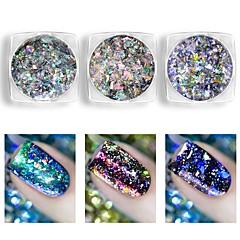 billiga Nagelvård och nagellack-1 pcs Paljetter / Puder / Nail Glitter Klassisk Nail Art Design Dagligen