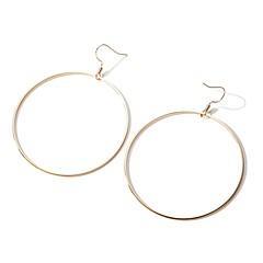 billige Fine smykker-Dame Overdimensionerede 2stk Store øreringe - Overdimensionerede / Mode Guld Cirkelformet Øreringe Til Ferie / Gade