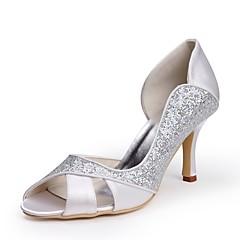 olcso -Női Cipő Flitter Selyem Tavasz Nyár Magasított talpú Esküvői cipők Tűsarok Köröm Rátét mert Esküvő Party és Estélyi Fehér