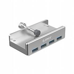 billige USB Hubs & Kontakter-orico mh4pu aluminium 4 porte usb 3,0 klem-type hub til stationære laptop clips rækkevidde 10-32mm med 100cm dato kabel - sølv