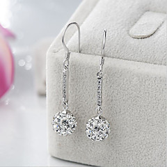 cheap Earrings-Women's Cubic Zirconia / Imitation Pearl Silver Plated 2pcs / 1 Drop Earrings - Asian / Classic / Sweet White / Silver Irregular Earrings