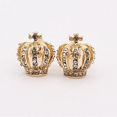 cheap Men's Cufflinks-Crown Silver Blue Golden Cufflinks Imitation Diamond Alloy Classic Fashion Daily Men's Costume Jewelry