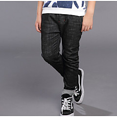 billige Jeans til drenge-Børn Drenge Aktiv Ensfarvet / Simpel Bomuld Jeans Sort