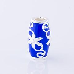 baratos Miçangas & Fabricação de Bijuterias-Jóias DIY 1 pçs Contas Esmalte Liga Azul Escuro Fúcsia Oval Bead 0.3 cm faça você mesmo Colar Pulseiras