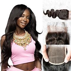 billiga Peruker och hårförlängning-Klassisk 4x4 Stängning Äkta hår Hög kvalitet Dagligen