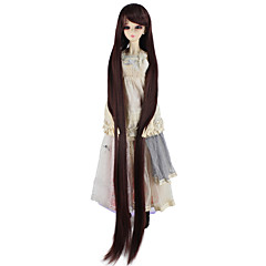 cheap Wigs & Hair Pieces-Synthetic Wig Women's kinky Straight Brown Synthetic Hair Brown Wig Very Long Capless Dark Auburn miss u hair / Doll Wig