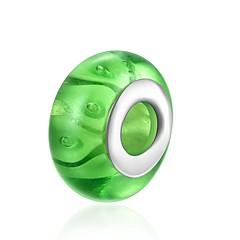 baratos Miçangas & Fabricação de Bijuterias-Jóias DIY 1 pçs Contas Vidro Prateado Verde Bola Bead 1.4 cm faça você mesmo Colar Pulseiras