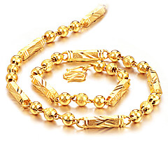 cheap Men's Jewelry-Men's , Fashion Rock Hiphop Chain Necklace , Gold Plated Titanium Steel Chain Necklace , Daily Street