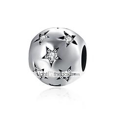 billige Perler og smykkemaking-DIY Smykker 1 Perler Sølv Stjerne Ball Fuskediamant Perlene 0.9 cm DIY Armbånd Halskjeder