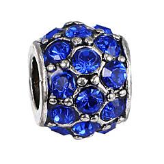 billige Perler og smykkemaking-DIY Smykker 10 stk Perler Strass Legering Perle Rosa Grønn Marineblå Ball Perlene 0.45 cm DIY Halskjeder Armbånd