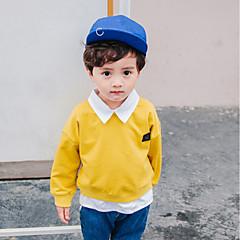 baratos Roupas de Meninos-Para Meninos Moleton & Blusa de Frio Sólido Primavera Todas as Estações Algodão Manga Longa Simples Azul Amarelo Castanho Claro