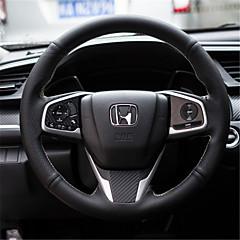 billige Rattovertrekk til bilen-Rattovertrekk til bilen ekte lær 38 cm Hvit / Rød For Honda Civic 2016