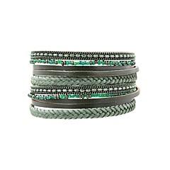 abordables -Femme Bracelets , Rétro Bohème Elégant Cuir , Bijoux Quotidien Sortie Bijoux de fantaisie Turquoise