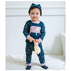 billige Undertøj og sokker til drenge-Baby Drenge Normal Simpel Langærmet Kort Kort Bomuld Nattøj