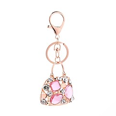 tanie Łańcuszki do kluczy-Łańcuszek do kluczy Biżuteria Różowy Torebka Stop Urocza Na co dzień Prezent Codzienny Damskie