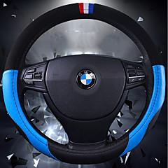 billige Rattovertrekk til bilen-Rattovertrekk til bilen ekte lær 38 cm Blå / Brun / Rød For Volkswagen / Mazda / Kia Alle år