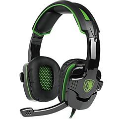 billiga Headsets och hörlurar-SADES SA-930 Headband Kabel Hörlurar Dynamisk Plast Spel Hörlur mikrofon headset
