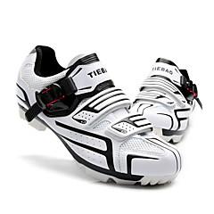 billige Sykkelsko-Tiebao® Mountain Bike-sko Nylon Vanntett, Anti-Skli, Demping Sykling Svart / Sølv / Grønn Herre