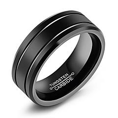baratos -Homens Anéis Grossos , Simples Casual Fashion Titânio Aço Formato Circular Jóias Diário Formal